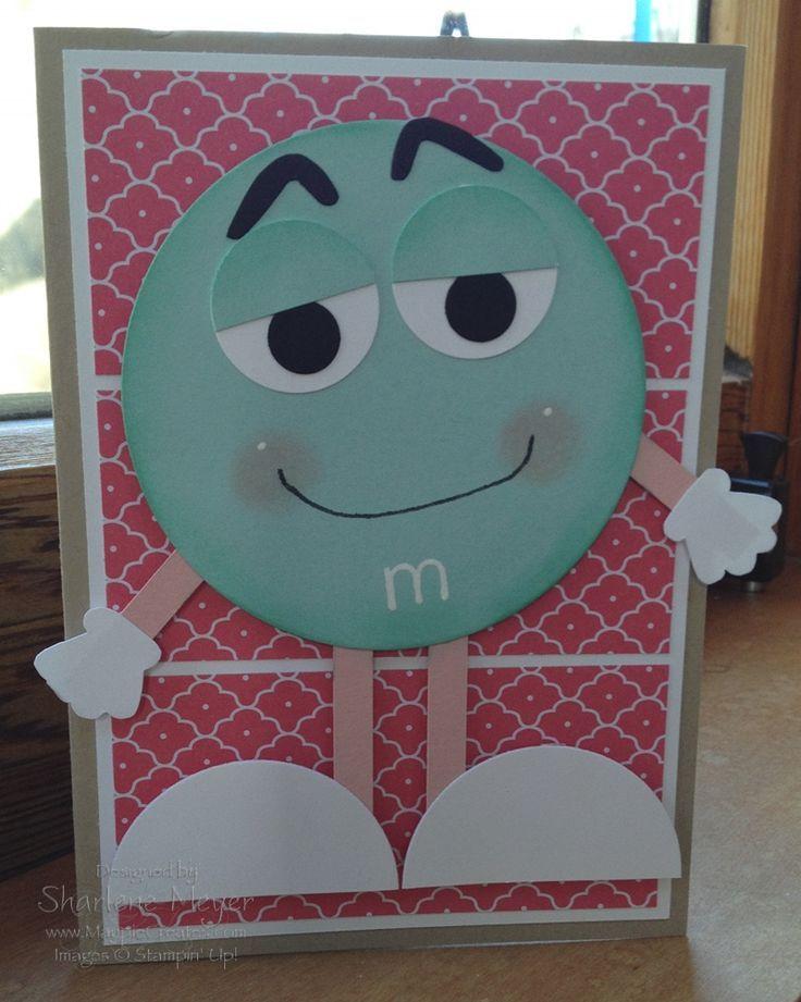 M & M punch art birthday card. www.magpiecreates.com Birthday M & M_magpiecreates