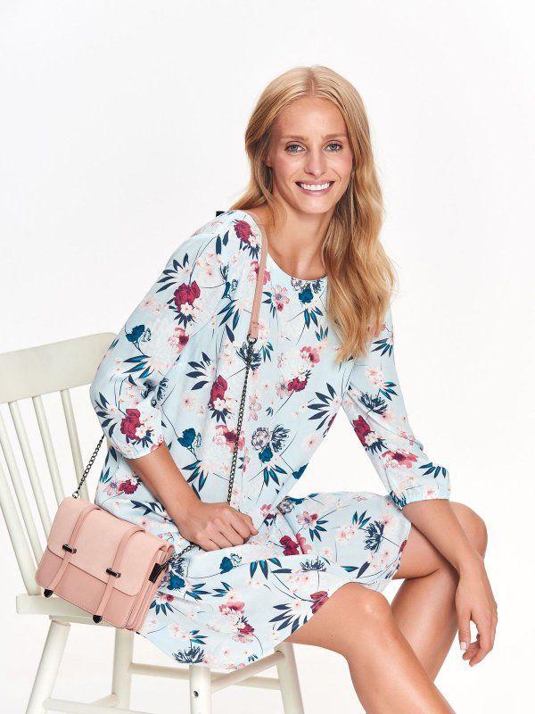c8e9cd503 Sukienka damska turkusowa - sukienka - TOP SECRET. SSU2335 Świetna jakość,  rewelacyjna cena,