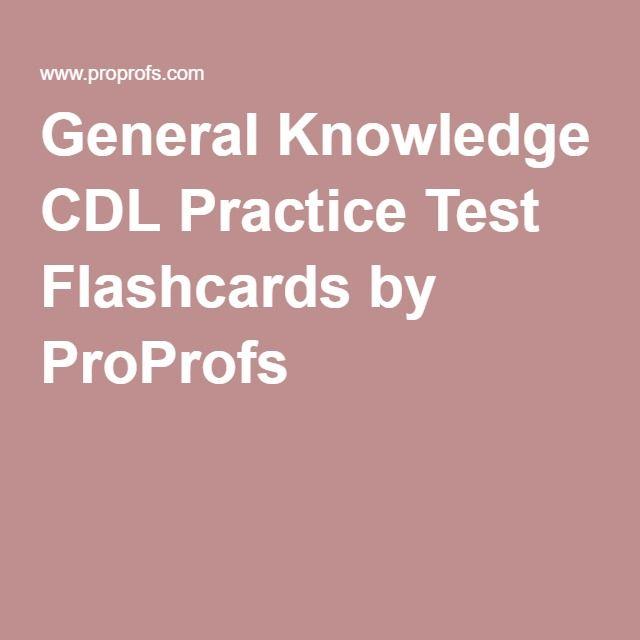 TX CDL General Knowledge Test Prep Program
