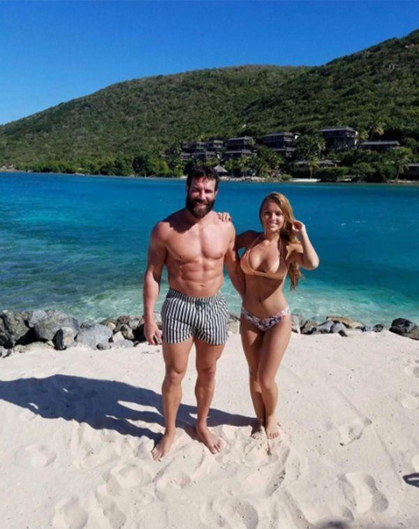 """Dan Bilzerian y su """"novia"""", Sofía Bevarly, durante un viaje en las Islas Vírgenes Británicas"""