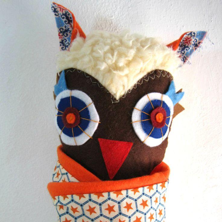 Ikaros the Owl!! Stuffed animal toy!! by JazzyRaccoon on Etsy