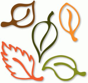 Silhouette Online Store - View Design #50097: 5 leaves