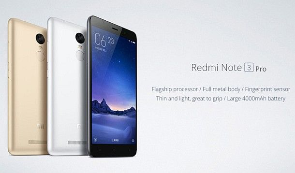 XIAOMI Redmi Note 3 Pro 4G Phablet