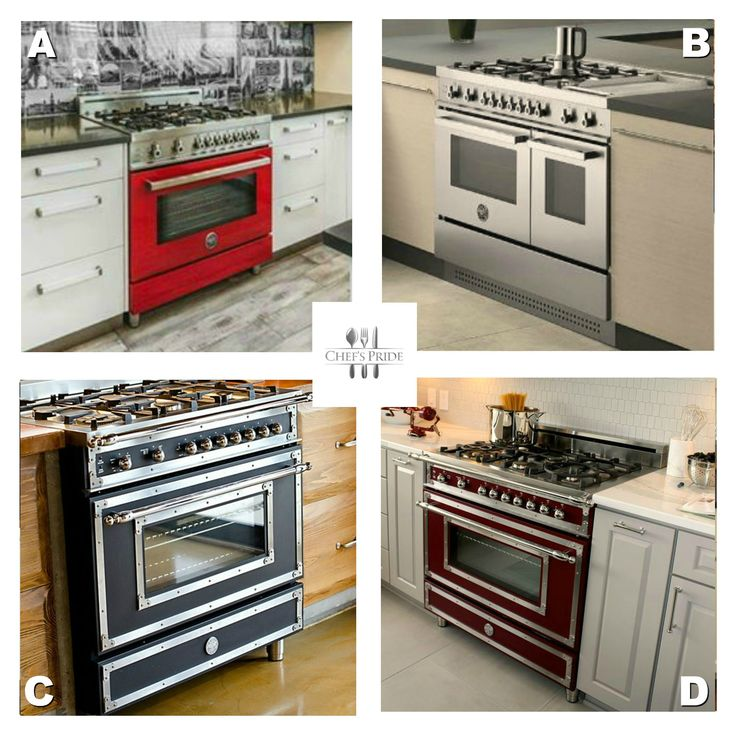 #MondayFunday: Which of these #Bertazzoni stoves would you love in your kitchen? A, B, C or D?