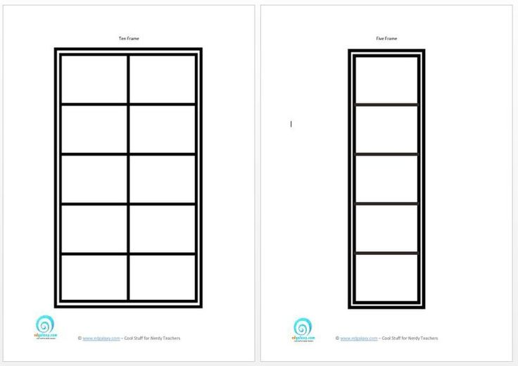 Printable Five and Ten frames to teach counting skills