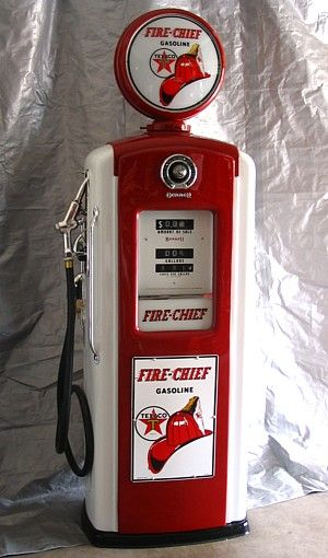 antique gas pumps | bennet fire chief gas pump 1950s gasoline pump five feet tall six and ...