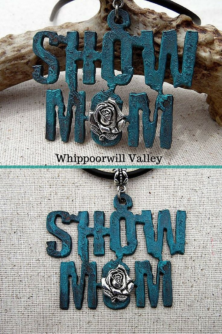 Show Mom Necklace. A special gift for that 4-H, FFA, Rodeo, Horse Show or whatever show mom!