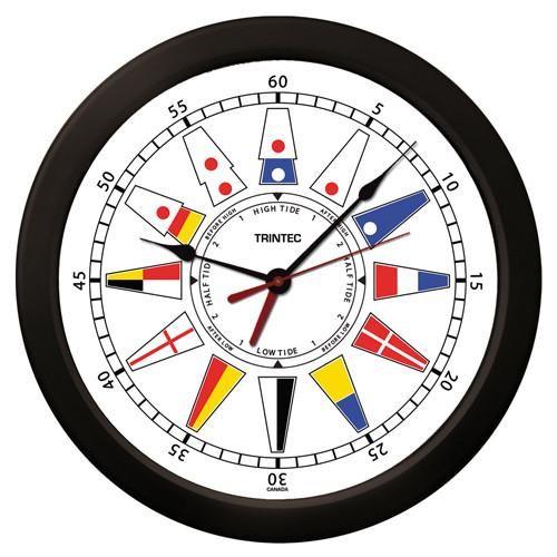 "14"" Nautical Flag Time & Tide Clock"