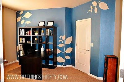 Doing this to bedroom walls right now. Such an easier idea than what I was going to use before!
