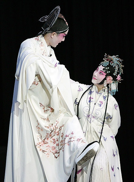 Kunqu (崑曲; pinyin: Kūnqǔ; Wade-Giles: k'un-ch'ü), also known as Kunju (崑劇), Kun opera or Kunqu Opera, is one of the oldest extant forms of Chinese opera. It evolved from the Kunshan melody, and dominated Chinese theatre from the 16th to the 18th centuries. The style originated in the Wu cultural area. It is listed as one of the Masterpieces of the Oral and Intangible Heritage of Humanity by UNESCO since 2001.