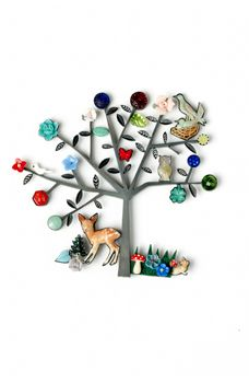 Grainne Morton   contemporary jewellery incorporating vintage found objects  tree life two brooch