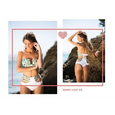 "Coral Beachwear on Instagram: ""Sunny Leaf v2 "" #sunny #summer #beach #funny #covetme"