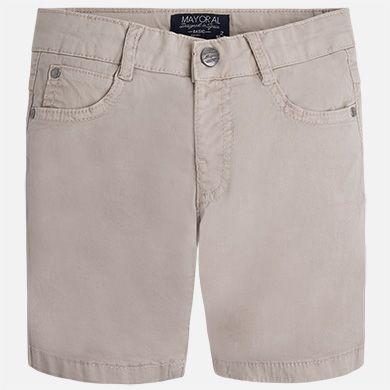 Pantalón corto de niño en sarga Arena - Mayoral