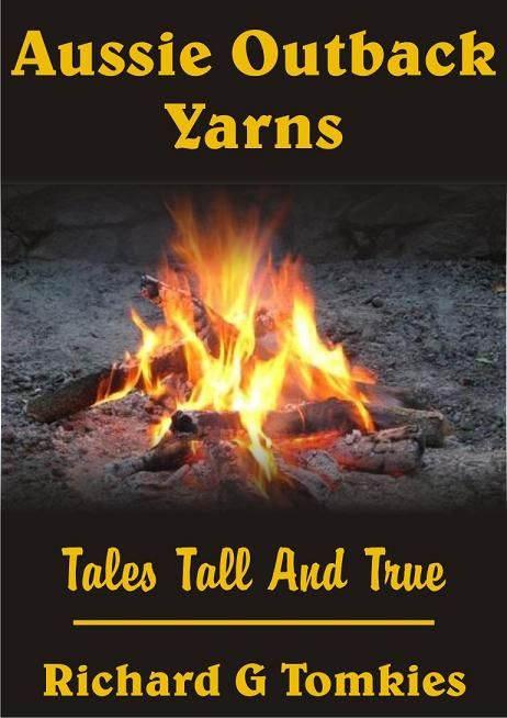 Bookcover Aussie Outback Yarns. Aussie culture and traditions