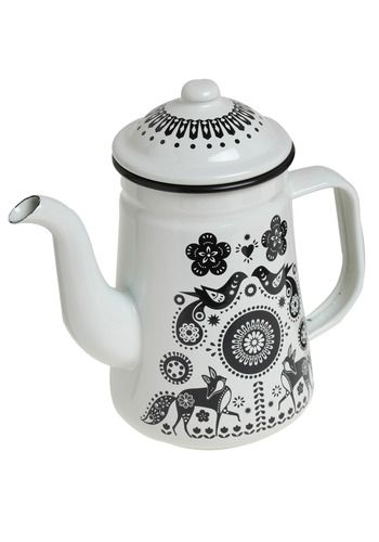I want my house to have a folk art sweetish theme. Make sense? White walls with big splashes of colour. (yes I know this is black and white but the pattern is amazing!)