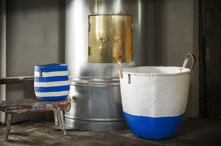 Finnish designed, hand-made baskets from Mifuko @estheticliving.com