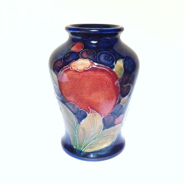 Beautiful Vintage Moorcroft Pomegranate Art Pottery Vase 1928 -1949 #ArtNouveau
