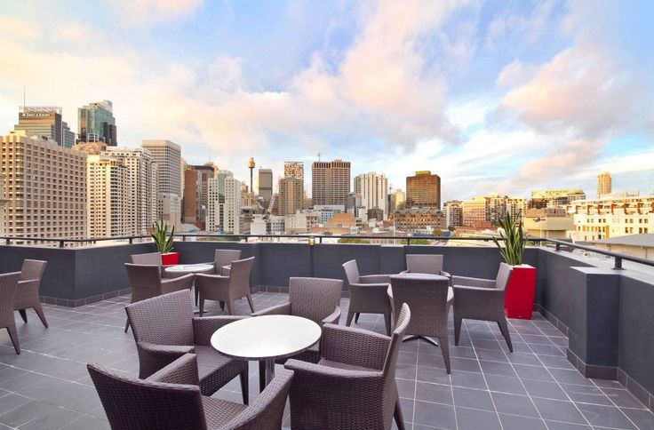 Take in the stunning #Sydney sights from the rooftop terrace at #Rydges Sydney Central.
