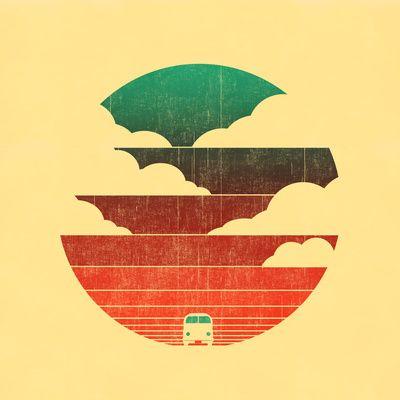 Vw - bus - camper - great illustration!