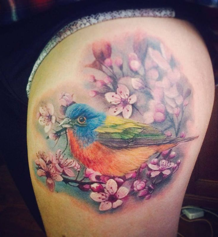 Colorful Bird Tattoo http://tattooideas247.com/colorful-bird/