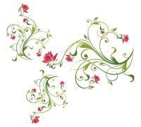 Lenagold - Клипарт - Красные цветы 3