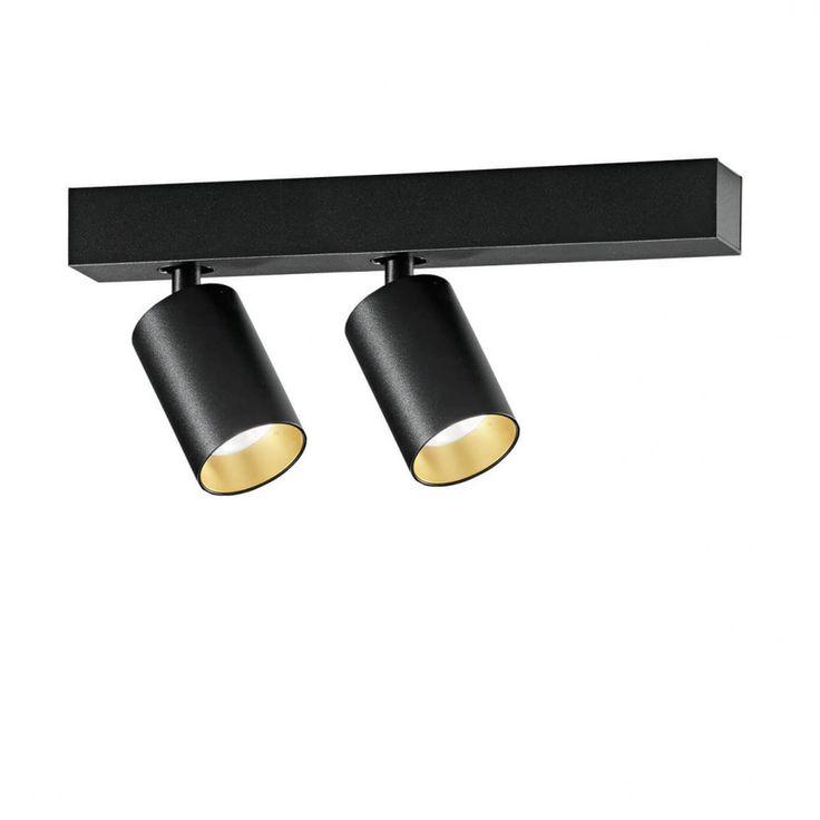Saturno 2-flammig LED Deckenstrahler schwarz-gold -  - A054501.002