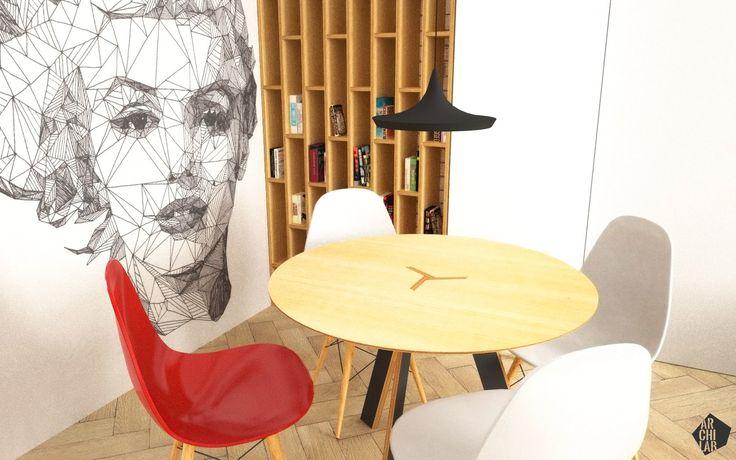 Návrh jedálne - Interiér bytu, Bratislava - Interiérový dizajn / Dining room interior by Archilab