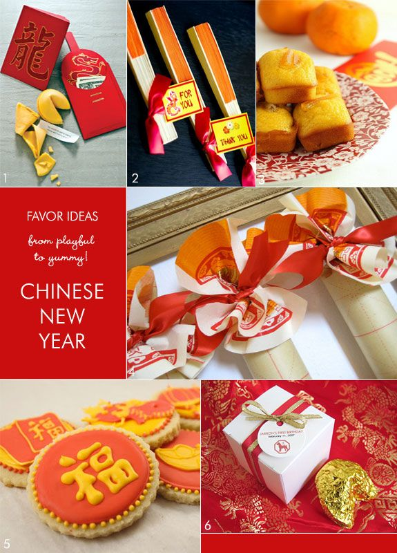 Chinese New Year favor ideas from fortune cookies to bamboo fans. #chinesenewyearparty