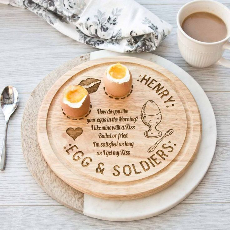 Who doesn rsquo t love Egg Soldiers Laser Engraved Personalised Wooden Egg Soldiers Dippy Egg Board The Board can hold a double egg and a space for