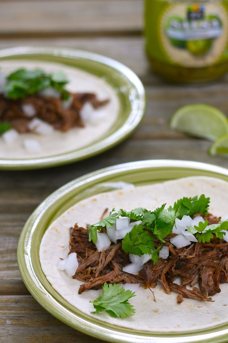 Tacos de Barbacoa Made today in the pressure cooker. So much quicker and still very good