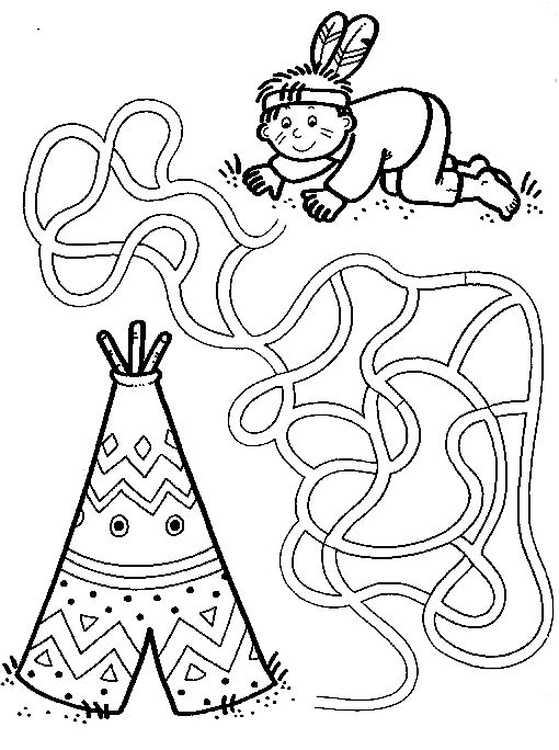 native american coloring pages for preschool | 313 best Geography Indians images on Pinterest | The ...