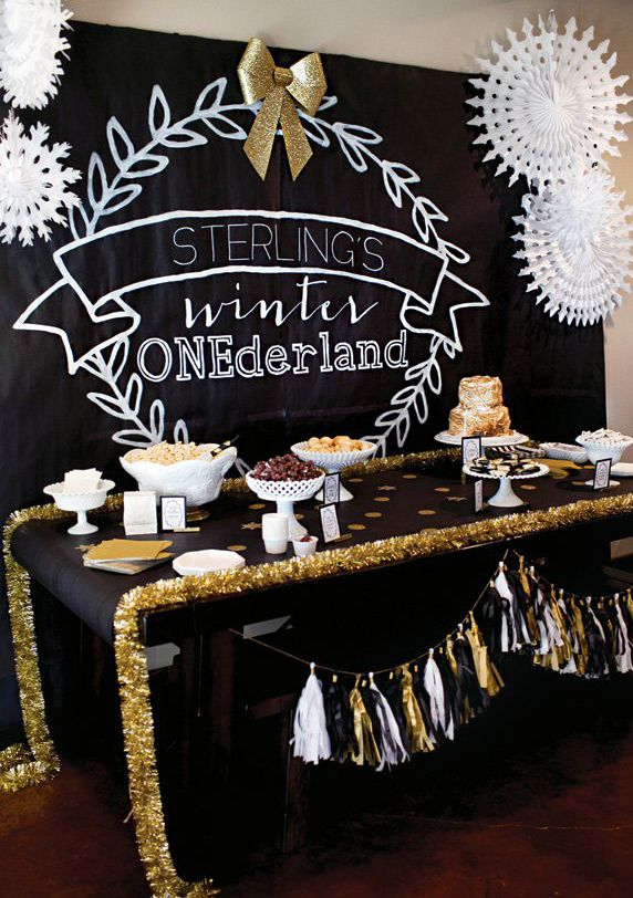 Ideas For A Winter One Derland Birthday Party First Birthday