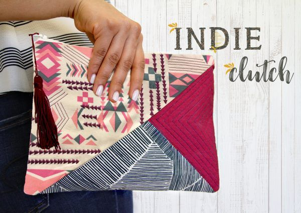 Indie Clutch Tutorial • WeAllSew • BERNINA USA's blog, WeAllSew, offers fun project ideas, patterns, video tutorials and sewing tips for sewers and crafters of all ages and skill levels.