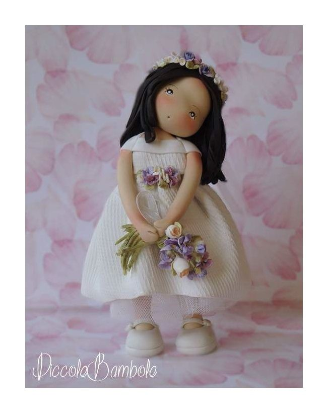 PiccoleBambole :Wedding - small dolls- cold porcelain- pasta di mais-creative