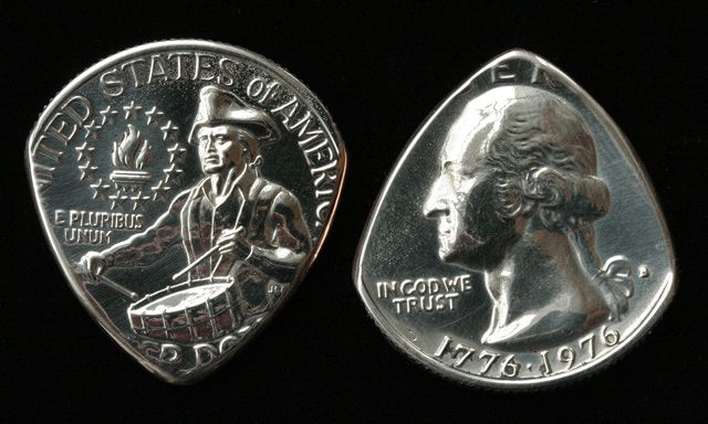 Guitar picks quarter - do this with the year i was born think it would be cool to have.