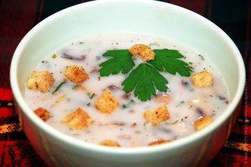 Грибной крем-суп из шампиньонов, вкусный и быстрый суп