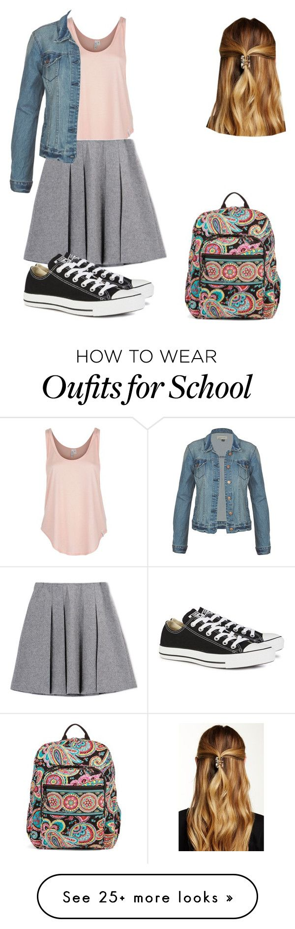 """school girl"" by amirahtaylor on Polyvore featuring Rip Curl, Vera Bradley, Converse and Natasha Accessories"