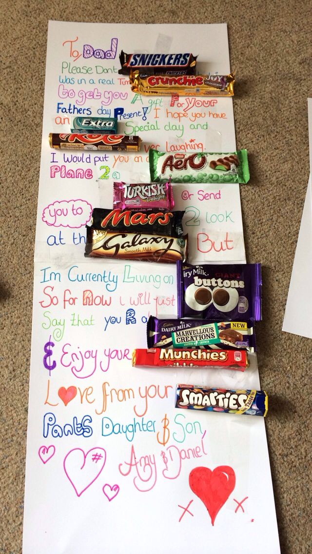 Chocolate message father 39 s day funny projects to try for Gift with purchase ideas