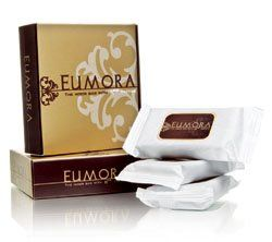 Natural ingredient! Safe! Simple! Fast result! For All Skin Types!    Eumora ~ a facial barthat is enhanced by the unique combination of Hma Factor, ourproprietary complex extracted from algae, with Heilmoor clay, a naturaltherapeutic ingredient well-known in Europe.    Suitable for all skin types, Eumora is formulated for daily use tocleanse, tone, and moisturize the face for the conditioned look.