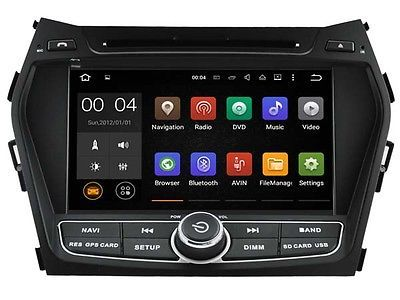 "﹩350.00. 8"" Android 7.1 Car DVD Player GPS Radio For Hyundai IX45 Santa Fe 2013-2016 Navi   3G/WIFI function - support, Bluetooth - Support handsfree call, phonebook search,A2DP, core - quad, Dual zone - You can listen to music while viewing gps map, DVR - Supprot, Features - Bluetooth Ready, fits and work in - Hyundai Santa fe 2013-2016, Flash memeory - 16G, Operation system - Android 7.1.1, Resolution - 1024*600, Screen Size - 8"", Unit Size - 2 DIN, Warranty - one year,"