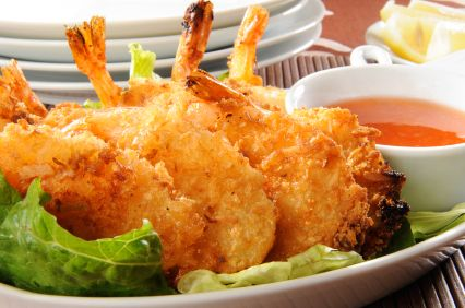 Beer-Battered Coconut Shrimp!Dinner, Christmas Recipe, Apples Pies, Low Calories, Dips Sauces, Coconut Rum, Hcg Diet, Coconut Shrimp Recipe, Deep Fries Food