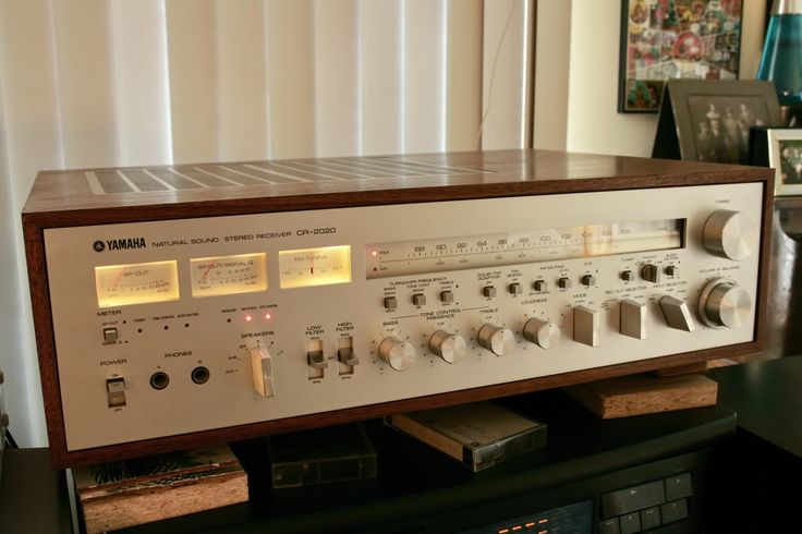 "Yamaha CR-1000. Love this vintage of Yamaha receivers. The clear ""slide ruler"" dials gave the cool blue of Pioneer and Marantz a real run for the money in design. Classic."