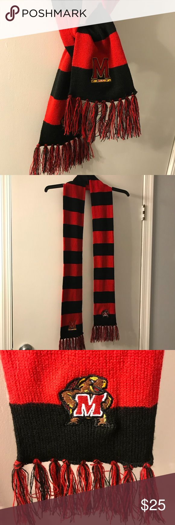 Maryland Winter Scarf University of Maryland Winter Scarf, in perfect condition, never worn. Accessories Scarves & Wraps