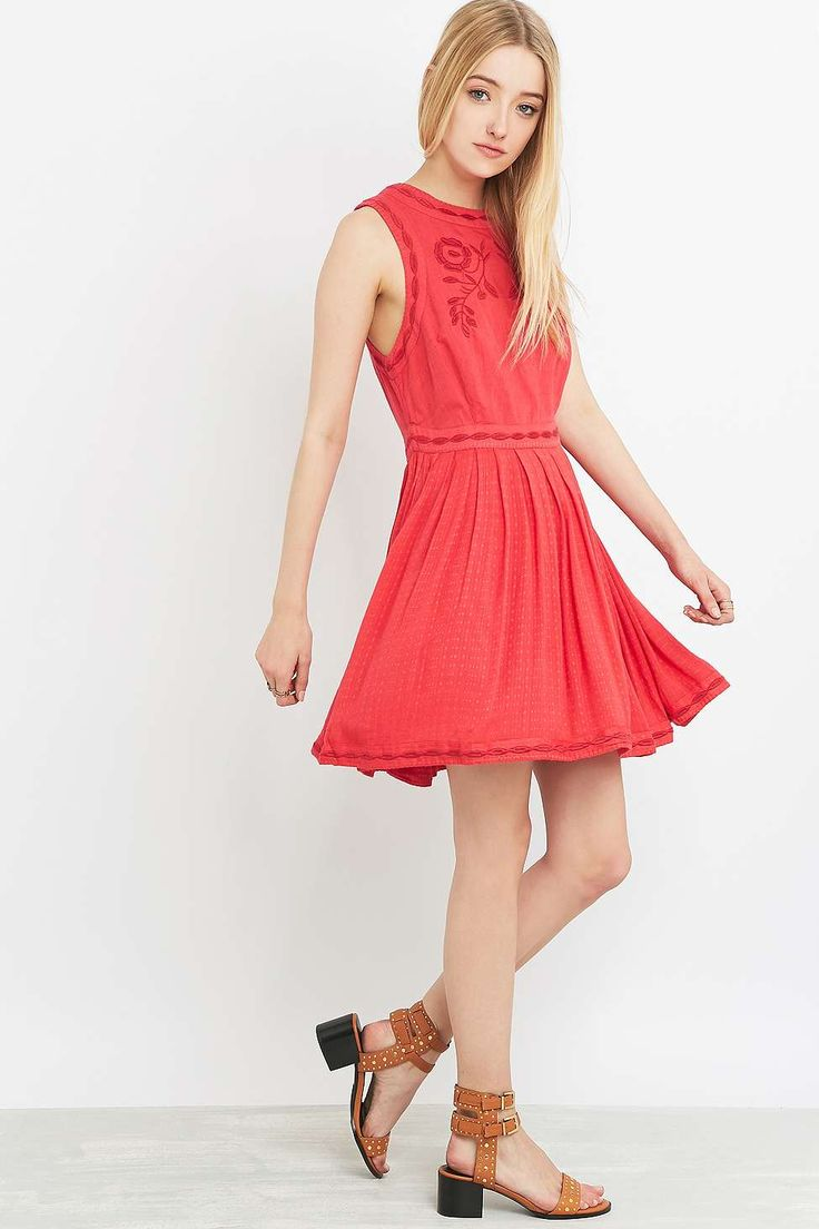 Free People Birds of Paradise Coral Dress