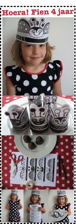 Printable Ladybug Hats & Cupcake Wrappers