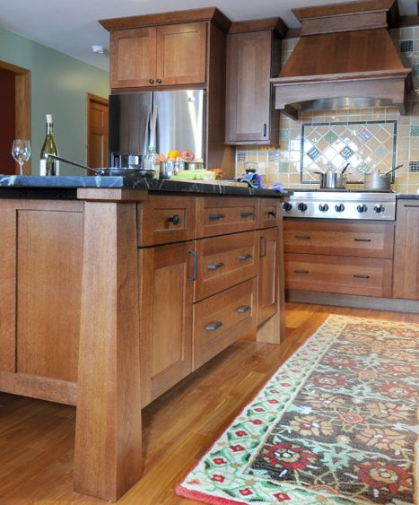 Classic Craftsman Styled Kitchen Remodel: Remodeled Craftsman Style Kitchen  Cabinets And Kitchen Island From #DuraSupreme Cabinetry.