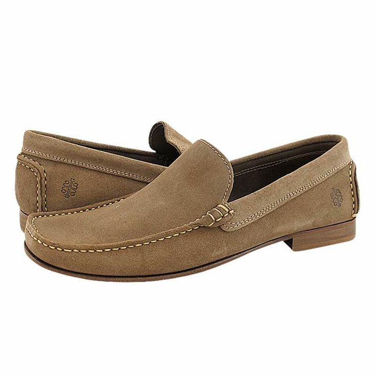Settat - Ανδρικά παπούτσια AJJS Estilo από καστορι χωρίς φόδρα με δερμάτινη σόλα.