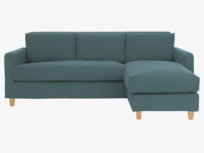 Chaise blue sofa