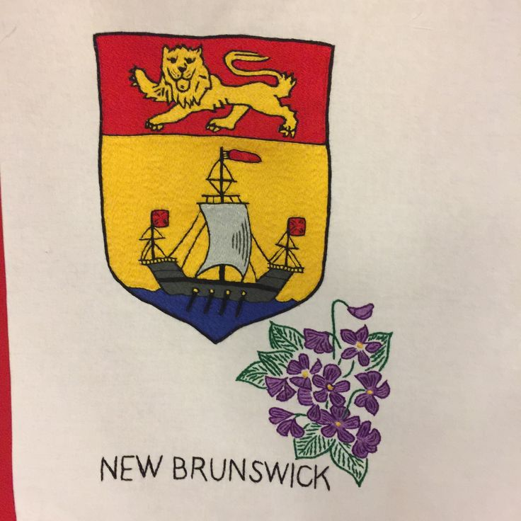 New Brunswick, hand embroidered by Edith Scott