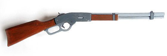 Lever-action wooden toy guns